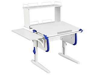 Купить стол Дэми WHITE СТАНДАРТ СУТ-24-02Д с задней двухъярусной и боковой приставкой