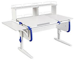 Купить стол Дэми СУТ-25-02Д2  WHITE DOUBLE с раздельной столешницей, боковой и двумя задними двухярусными