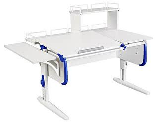 Купить стол Дэми СУТ 25-02Д WHITE DOUBLE с раздельной столешницей, боковой, задней двухярусной и одной одн