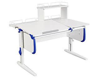 Купить стол Дэми СУТ-25-01Д  WHITE DOUBLE с раздельной столешницей, задней двухярусной и одной одноярусной