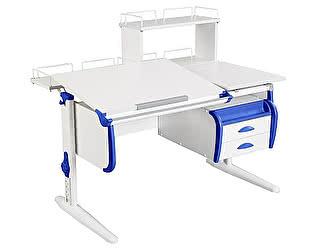 Купить стол Дэми СУТ-25-04Д  WHITE DOUBLE с раздельной столешницей, задней двухярусной, одной одноярусной