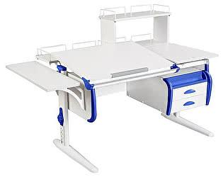Купить стол Дэми СУТ-25-05Д  WHITE DOUBLE с раздельной столешницей, боковой, задней двухъярусной, одной од