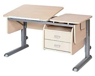 Купить стол Астек ТВИН-2  (парта) с подвесной тумбой для дома
