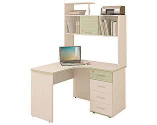 Компьютерный стол Витра Акварель-53.13 + Надстройка-53.18