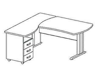 Стол компьютерный Дэфо B199/1