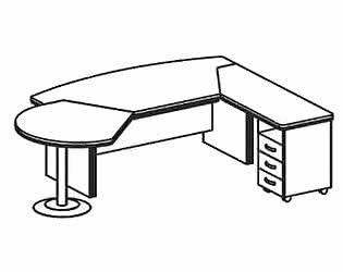 Стол компьютерный Дэфо BE110