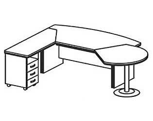 Стол компьютерный Дэфо BE113