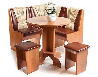 Кухонный уголок Мебель Волгодонска КУ Лидер 4 мини + Стол Лидер 4 + 2 Табурета Лидер 1