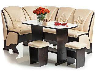 Кухонный уголок Мебель Волгодонска КУ Лидер 7 +Стол Лидер 5 + Табуреты Лидер 2