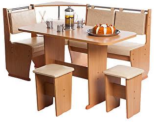 Кухонный уголок Мебель Волгодонска КУ Лидер 8 +Стол Лидер 1 + Табуреты Лидер 1