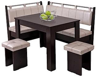 Кухонный уголок Мебель Волгодонска КУ Лидер 9 +Стол Лидер 6 + Табуреты Лидер 3