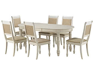 Обеденная группа Mr. Kim стол CH-T6EX и 6 стульев CH-SC