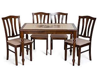 Купить стол Tetchair Обеденная группа СТ 3045Р + 4 шт. СТ 8162