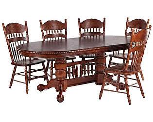 Обеденная группа МИК Мебель Стол MK-1104-HG + 5 стульев MK-1117-HG
