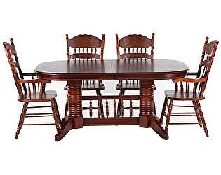 Обеденная группа МИК Мебель Стол MK-1102-GC + 4 стула MK-1116-GC