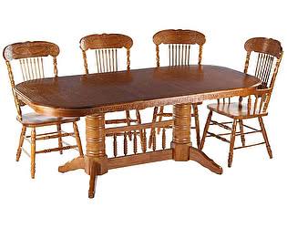 Обеденная группа МИК Мебель Стол MK-1111-GD + 4 стула MK-1118-GD
