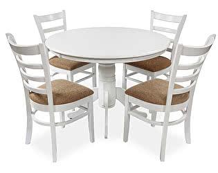 Обеденная группа Mr. Kim стол ES2191 white+стул ES2000