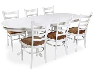Обеденная группа Mr. Kim стол 2000 (wh)+стул 2000(wh)