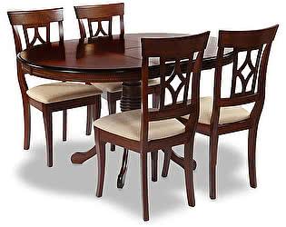 Обеденная группа Mr. Kim стол OP-T4EX + 4 шт. стула AM-SC2
