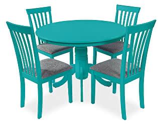Обеденная группа Mr. Kim стол Conifero и 4 стула Chioma