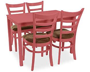 Обеденная группа Mr. Kim стол Meleto и 4 стула Petalo