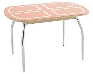 Стол кухонный Кубика Портофино-2 рисунок (ноги хром)