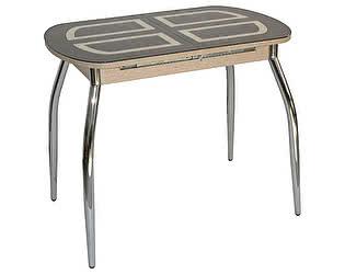 Стол кухонный Кубика Портофино-мини Рис-1 (ноги хром)