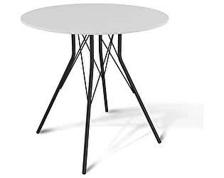 Стол кухонный Sheffilton SHT-ТU2 + SHT-TT 80 МДФ Черный / Белый