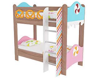 Кровать двухъярусная Мебельсон Пряничный домик