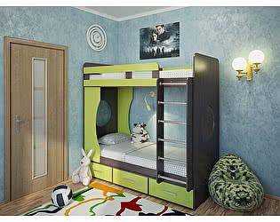 Кровать двухъярусная Милана-1 Венге