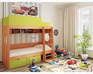 Кровать двухъярусная Милана-2 Бук