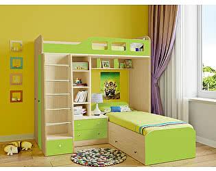 Кровать двухъярусная РВ Мебель Астра-4 Дуб Молочный
