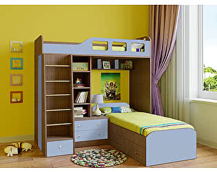 Кровать двухъярусная РВ Мебель Астра-4 Дуб Шамони