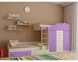 Купить кровать РВ Мебель Астра-6 Дуб Молочный двухъярусная