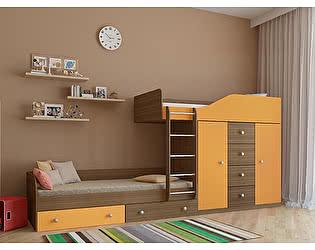 Кровать двухъярусная РВ Мебель Астра-6 Дуб Шамони
