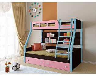 Кровать двухъярусная РВ Мебель Рио Венге