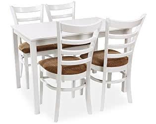 Обеденная группа Mr. Kim стол ES 2 (wh)+стулья ES2000(wh)