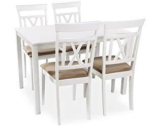 Обеденная группа Mr. Kim стол ES 2 (wh)+стулья ES2003-5(wh)