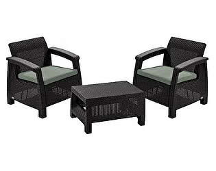Комплект плетеной мебели Keter CORFU Weekend 17197786