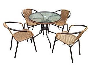 Комплект плетеной мебели Афина-мебель TLH-037/087-80