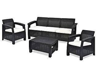 Купить  комплект садовой мебели Keter CORFU TRIPLE SET 17197786 + 17197959