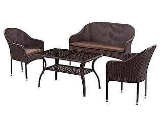 Комплект плетеной мебели Афина-мебель S20B-2/ S20B-1/ ST20B