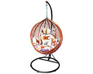 Подвесное кресло Kvimol KM-0001 (рыжий, подушка со зверушками)