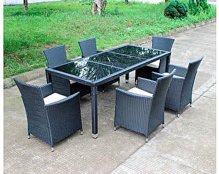 Комплект плетеной мебели Kvimol КМ-1312 (Стол КМ-0312 + 6 кресел КМ-0317)