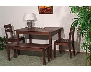Купить  комплект садовой мебели Timberica Скамья дачная №1 + 2 стула дачного + стол дачный №2
