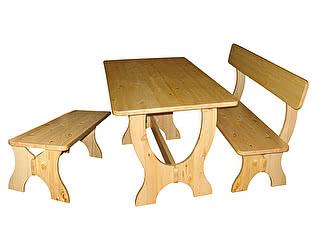 Купить  комплект садовой мебели Добрый мастер Ом-л + Ом-лс + Ом