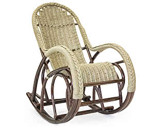 Кресло-качалка Мебель Импэкс Красавица SG Lux, лоза + жгут