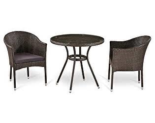Комплект плетеной мебели Афина-мебель Т283ANT/Y350-W51-2PCS