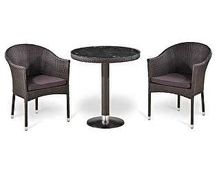 Комплект плетеной мебели Афина-мебель Т504/Y350W-W2390