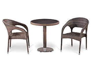 Комплект плетеной мебели Афина-мебель Т501DG/Y90CG-W1289